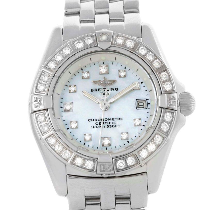 Breitling Callisto Ladies Mother of Pearl Diamond Watch