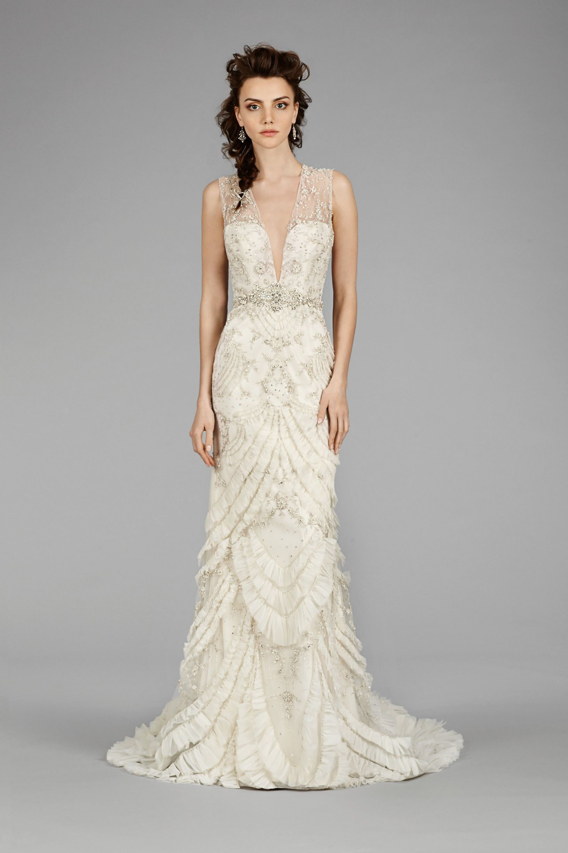 3454 front2 lazaro wedding dress art deco wedding dress