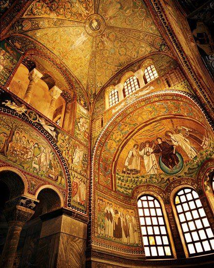 Ravenna's sixth-century Basilica di San Vitale - spectacular Byzantine mosaics.