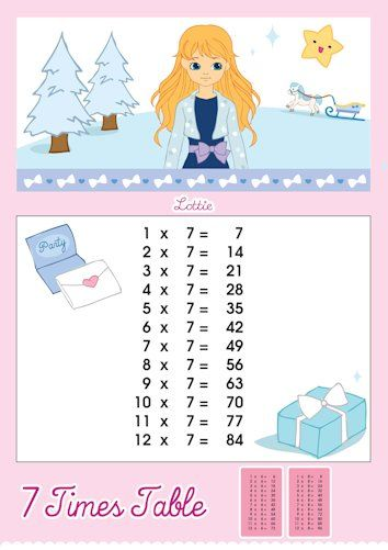 7 Times Tables Charts For Kids Free Printables At Http