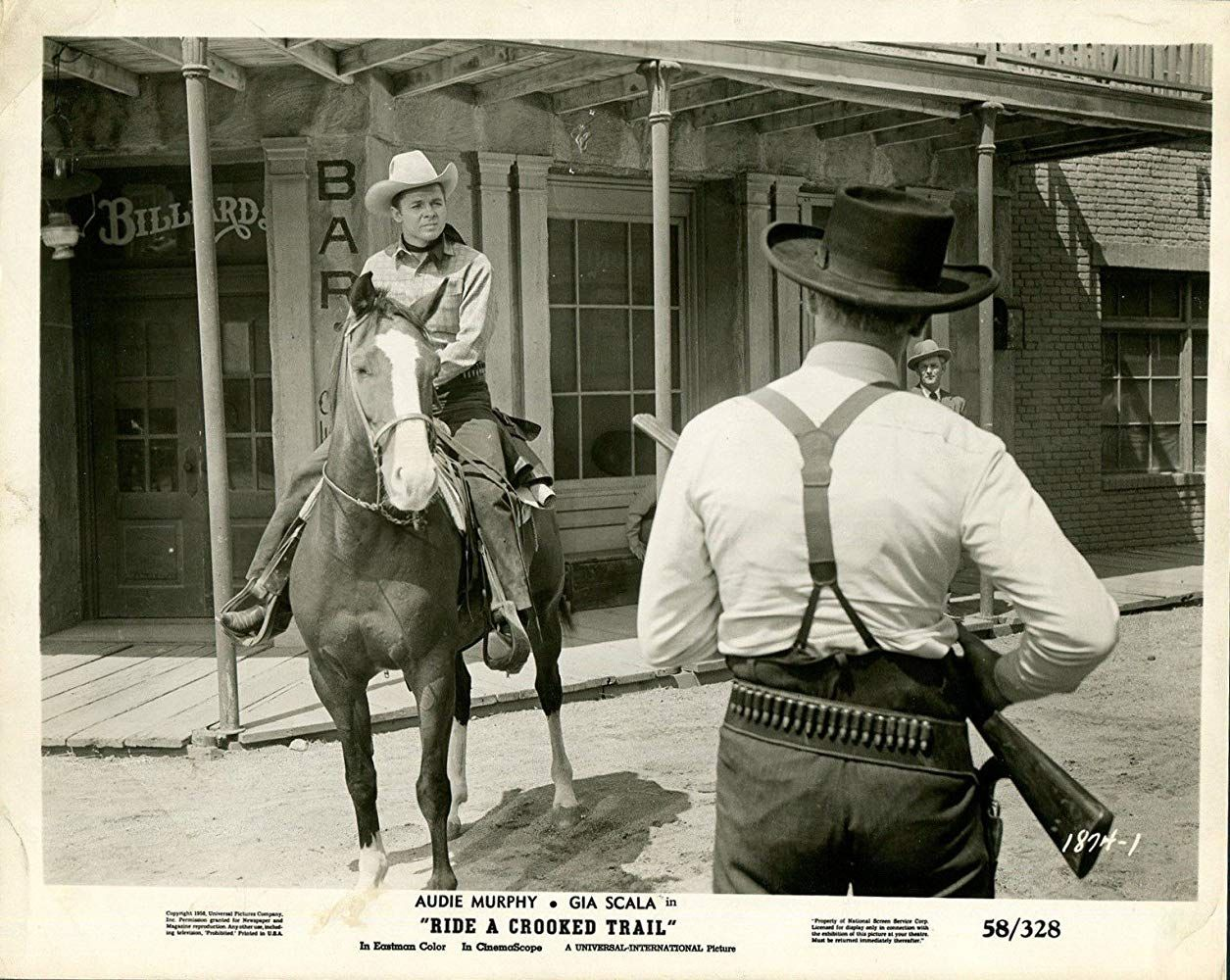 Audie Murphy In Ride A Crooked Trail 1958 Western Movies Classic Movies Westerns