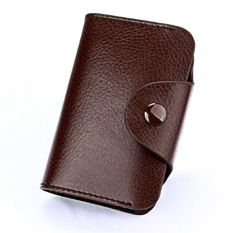 The Best Men And Women Genuine Leather Unisex Business Card Holder