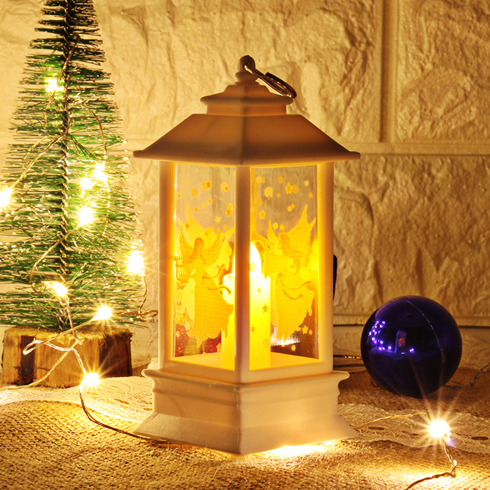 LED Lantern Lamp Christmas Decorations Vintage Home Candle Light