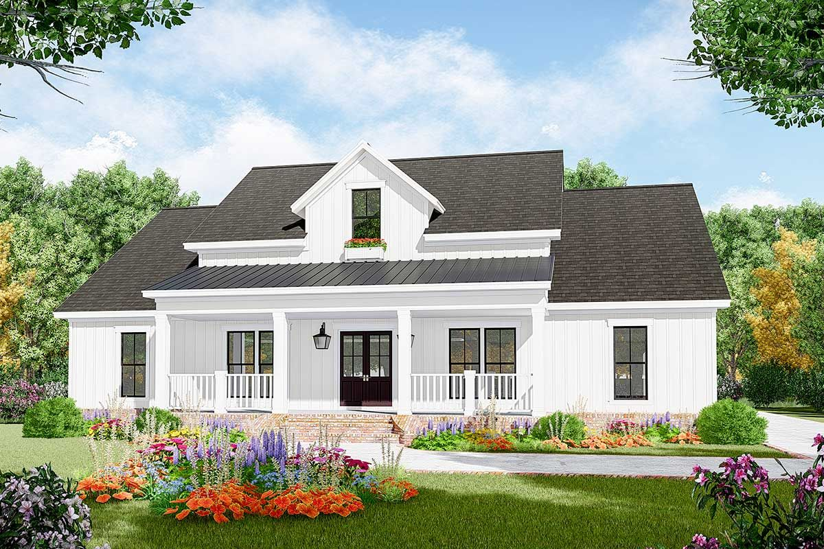 Plan 51183MM: Three-Bed Farmhouse Plan with Open Concept ...