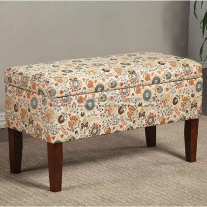 This Coaster Floral Fabric Storage Bench 500078 Is Perfect For Use As A  Storage Ottoman Or