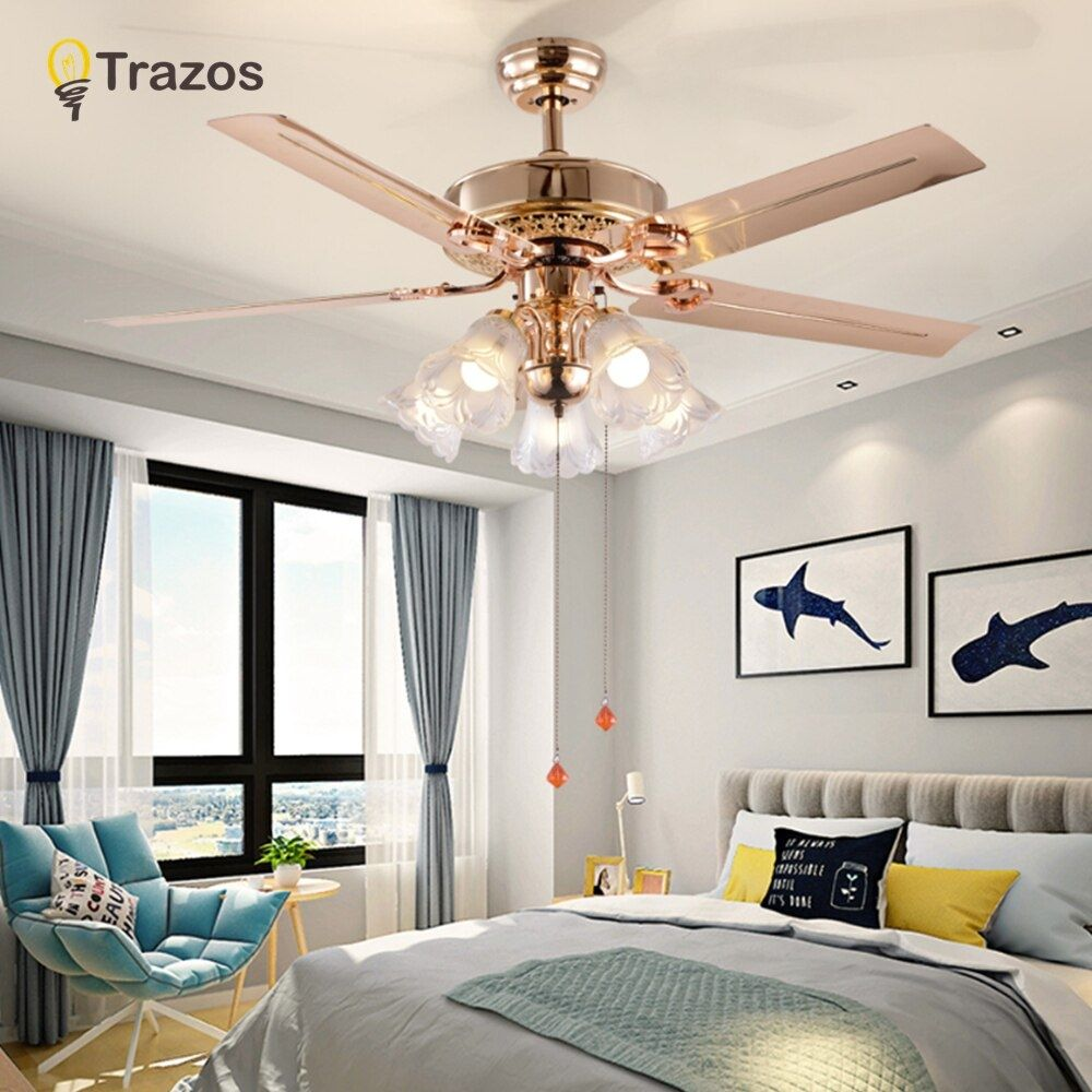 Modern 220v Led Ceiling Fan For Living Room Ventilador De Techo