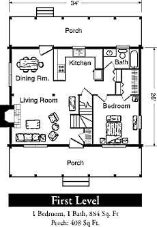 This Plan Minus Second Floor   Maybe Make Staircase Area In To Large  Pantry/storage. Small Cabin PlansLog ...