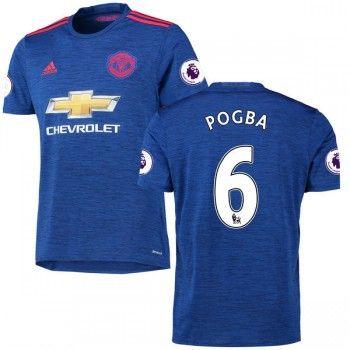 4205739b928 Fodboldtrøjer Premier League Manchester United 2016-17 Paul Pogba 6  Udebanetrøje