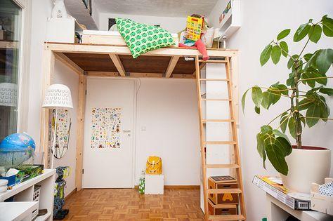 ein hochbett selber bauen diy anleitung bauideen r ume. Black Bedroom Furniture Sets. Home Design Ideas
