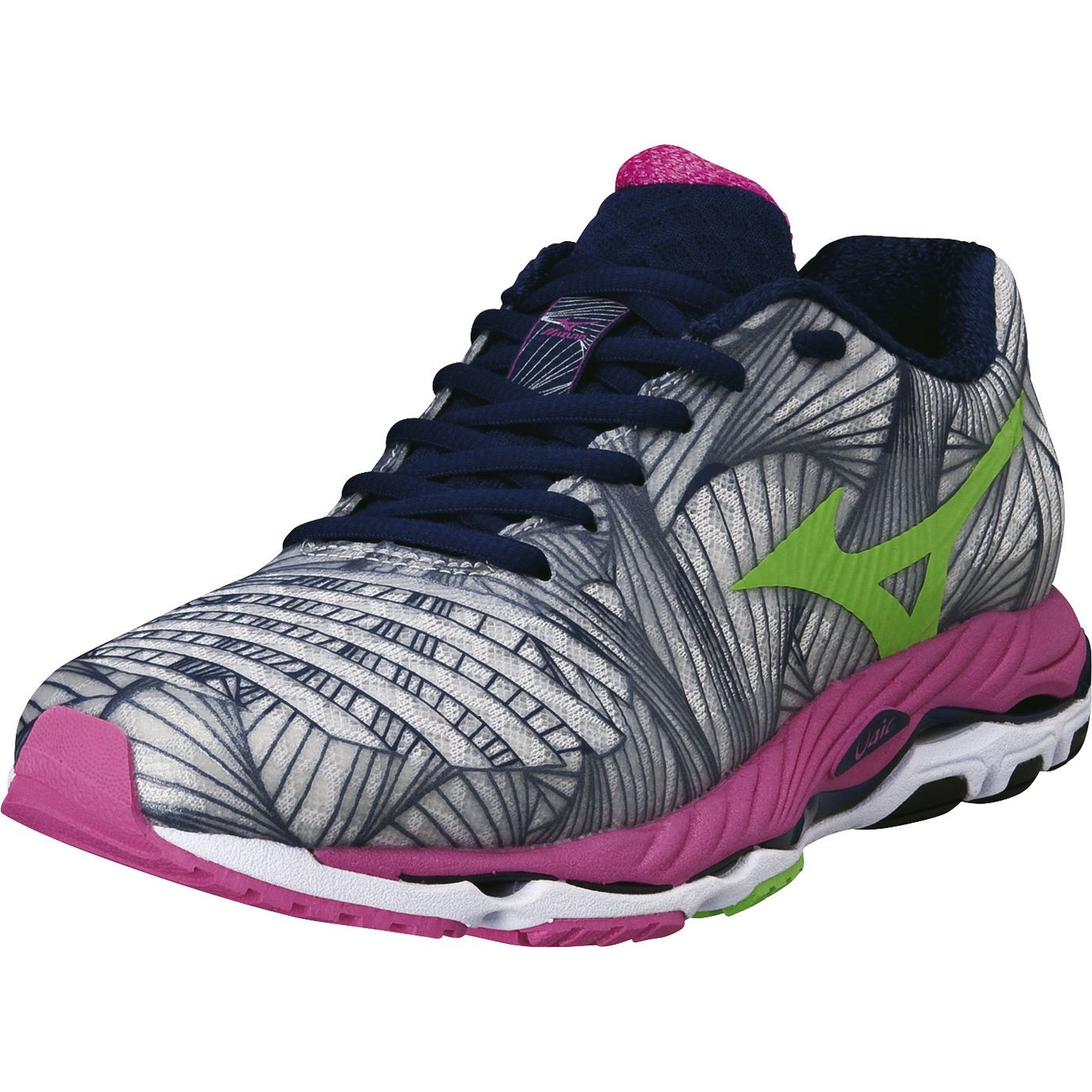 Grey Sports Mizuno Womens Wave Paradox 5 Running Shoes Trainers Sneakers