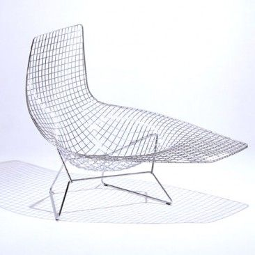 Bertoia Asymmetric Chaise Unupholstered Bertoia Furniture Furniture Design