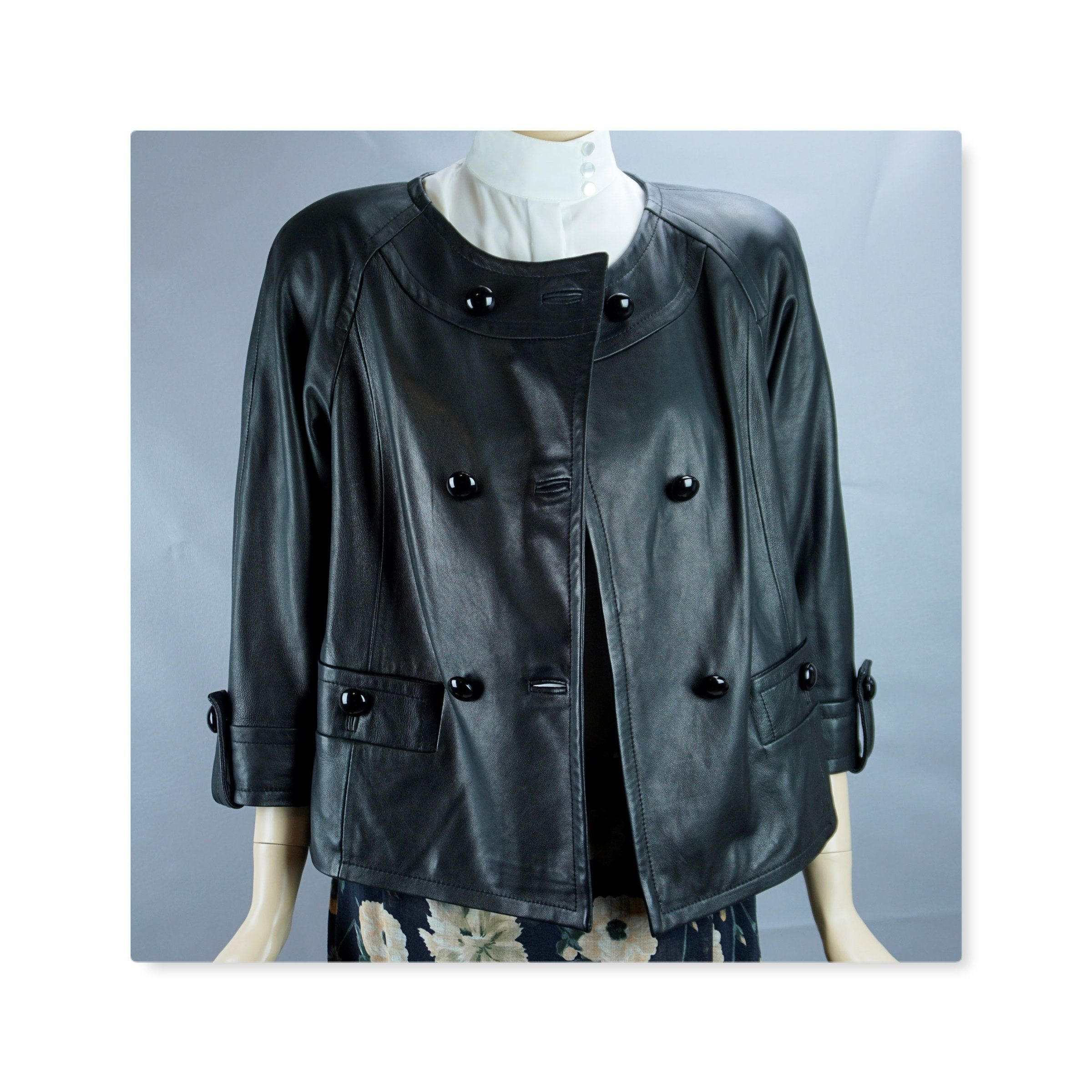 Black Leather Jacket Double Breasted Leather Jacket Talbots Etsy Black Leather Jacket Jackets Black Leather [ 2400 x 2400 Pixel ]