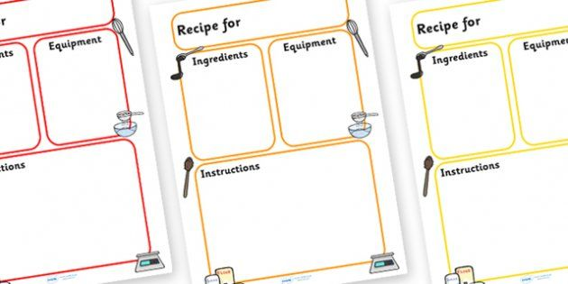 Editable Recipe Template - recipe, cooking, baking, recipe - writing template