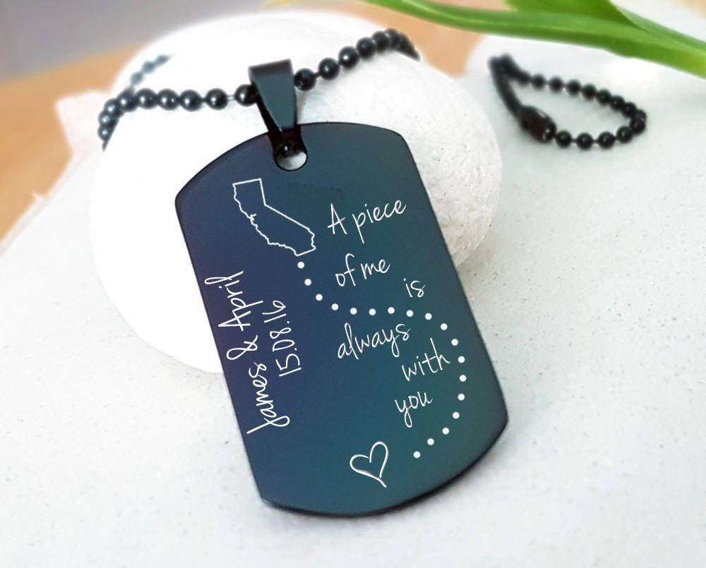 Graduation Gift Military Keychain Deployment Gift for Husband Deployment Gift for Boyfriend Deployment Gift for Fiance Long Distance M17.1 by OrientAppeal ...