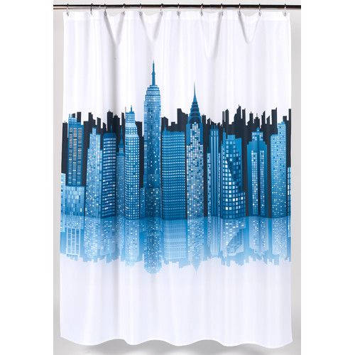 Cityscape Single Shower Curtain In 2020 Fabric Shower Curtains Shower Curtain Curtains