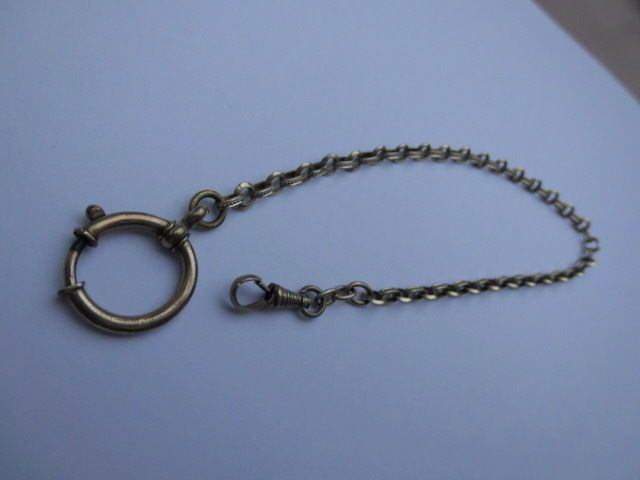 antike Uhrenkette  28cm  double  ww1 wk1-vergoldet antique clockchain