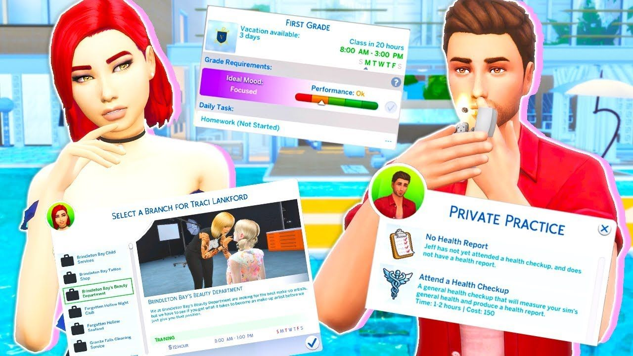 10 Mods For Realistic Gameplay The Sims 4 Youtube Sims 4 Challenges Sims 4 Traits Sims 4 Jobs