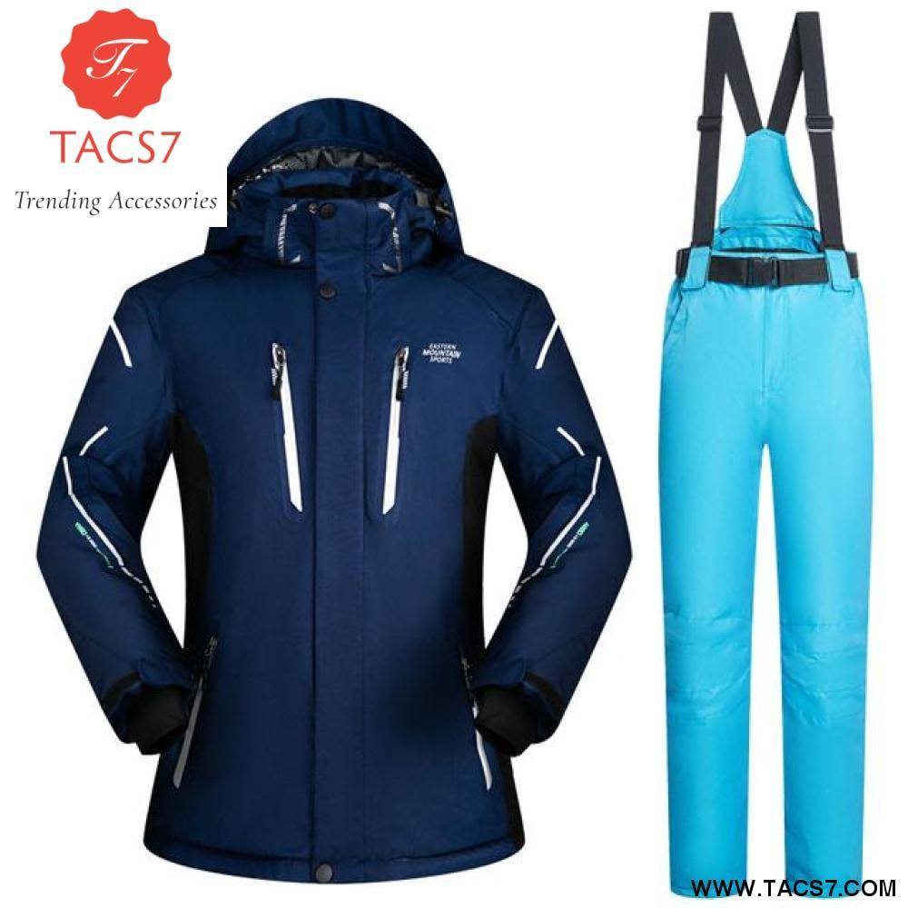 New Ski suit men skiing and Snowboarding sets Super Warm waterproof  Windproof snowboard jacket+ski 3ef177b47
