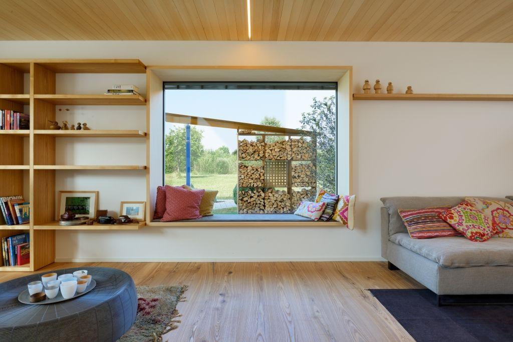 Modernes Wohnzimmer im Bau-Fritz Haus Alpenchic Old Edwards