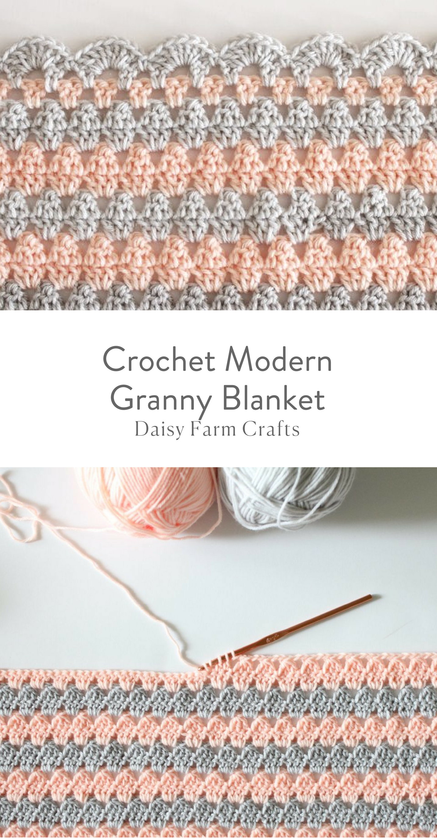 Free Pattern - Crochet Modern Granny Blanket | Crochet patterns ...