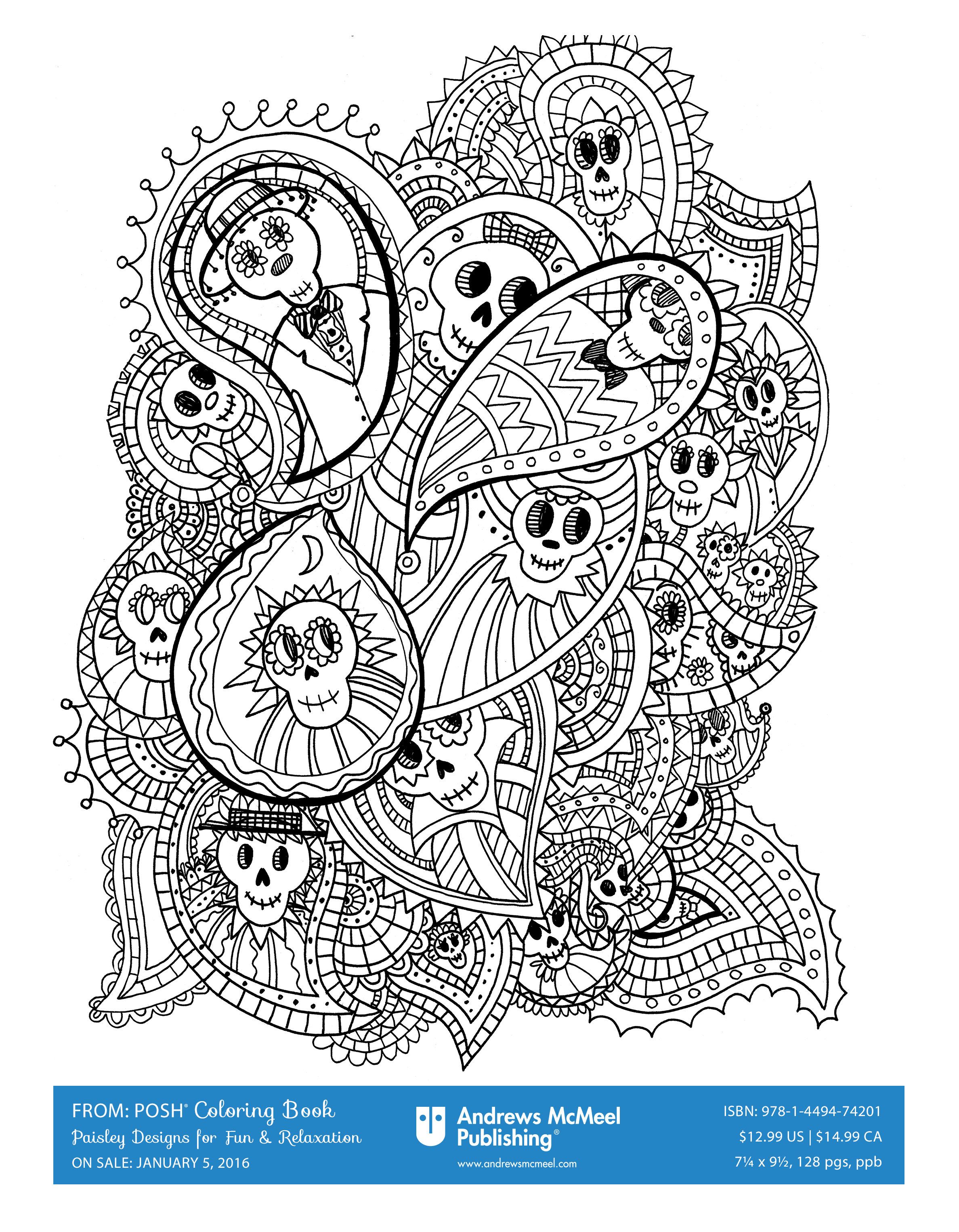 We Are Loving These Halloween Coloring Pages From Posh Adult Books