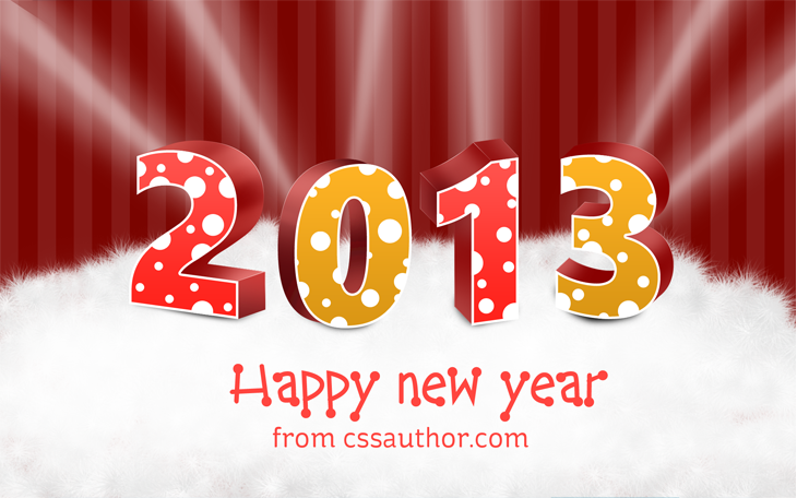 Free New Years 2013 Greeting Card Template PSD Download - cssauthor ...