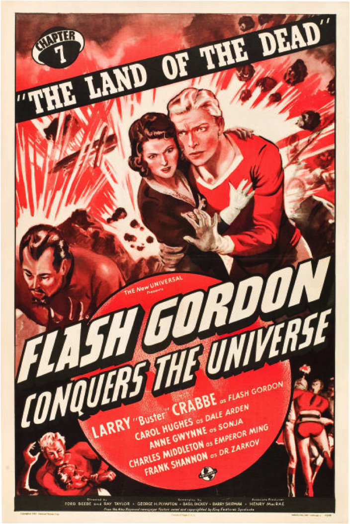Flash Gordon Larry Buster Crabbe cult serial movie poster print 4 1936