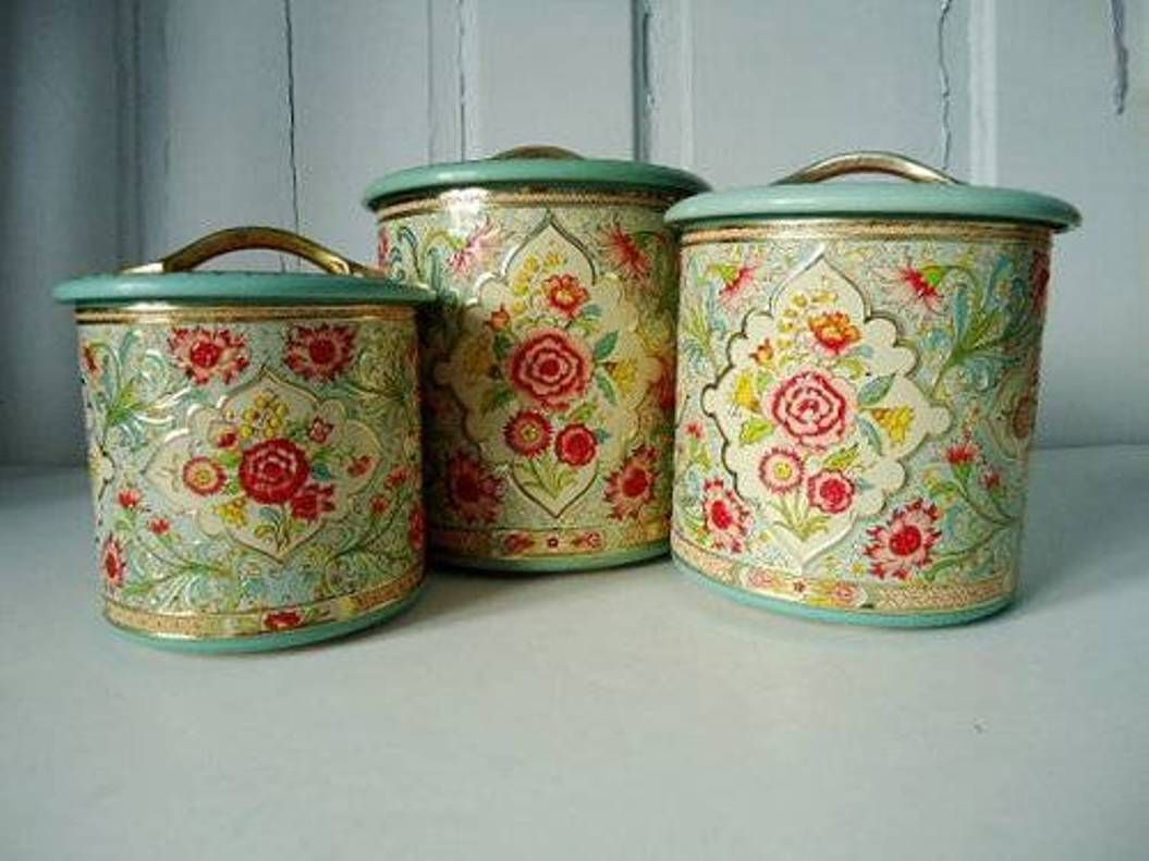 floral kitchen canister set choosing the best sets canisters circa ...
