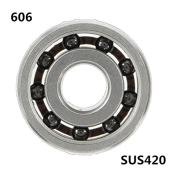 606 6x17x6mmball Bearing Ss420 Hybrid 9 Beads Ceramic Balls For Fidget Hand Spinner Stainless Steel Rings Ceramics Hand Spinner