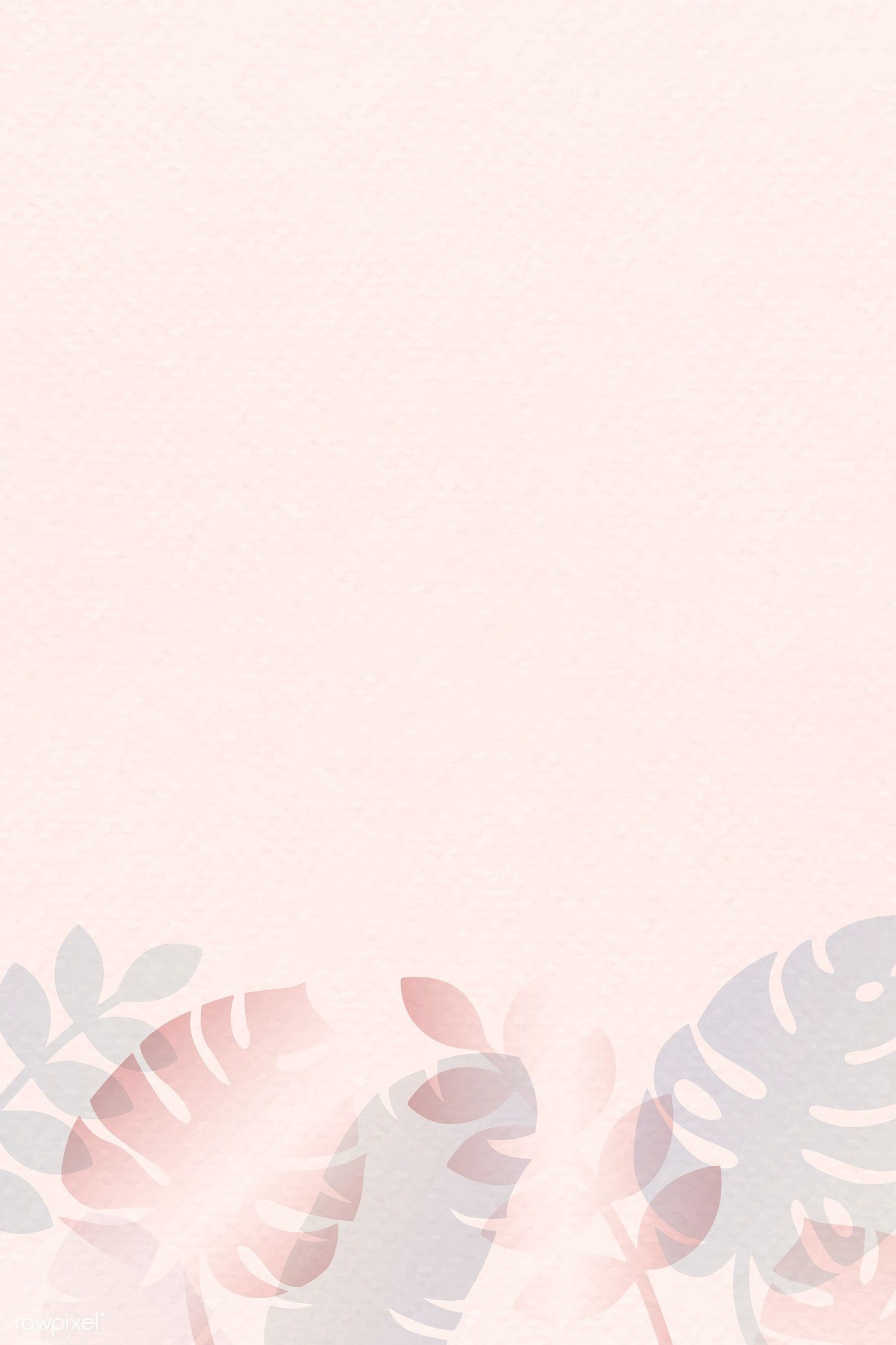 Tropical Leaves Pattern On Pastel Pink Background Vector Premium Image By Rawpixel Com Tropical Leaves Pattern Pastel Background Wallpapers Pastel Background
