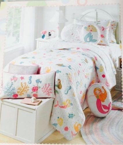 Maggie Miller Children's Collection Twin Quilt & Sham Set Mermaids ... : fish quilt bedding - Adamdwight.com