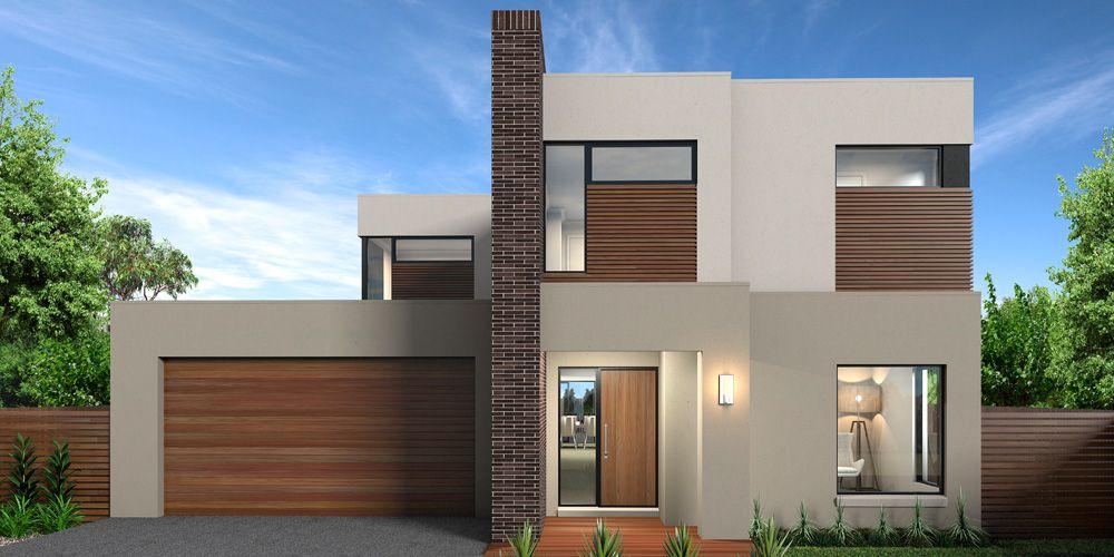 Plano de lujosa y amplia casa moderna con 4 dormitorios for Casa moderna exterior