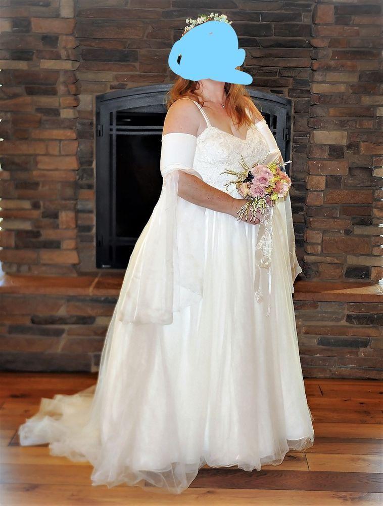 3b2b06c57b ivory wedding dress size 18 - 20 with corset  fashion  clothing  shoes   accessories  weddingformaloccasion  weddingdresses  ad (ebay link)