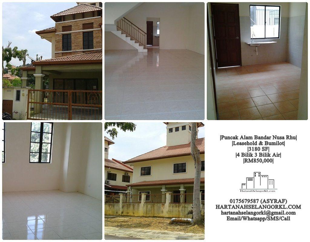 Bandar Nusa Rhu U10 Teres 2 Tingkat Corner Untuk Dijual