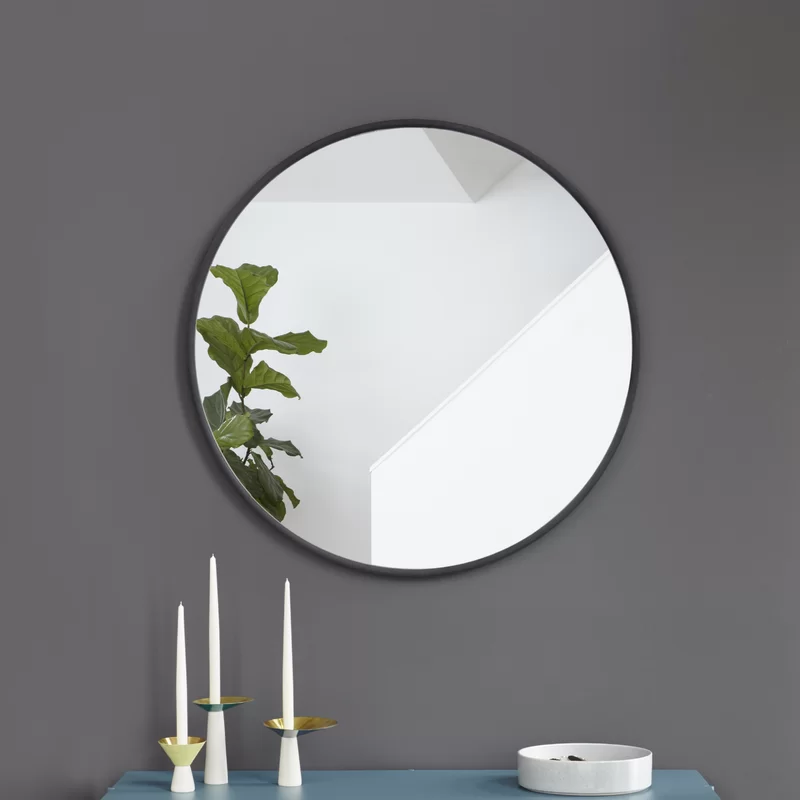 Hub Modern Contemporary Accent Mirror In 2020 Round Wall Mirror Modern Mirror Bathroom Mirror Design