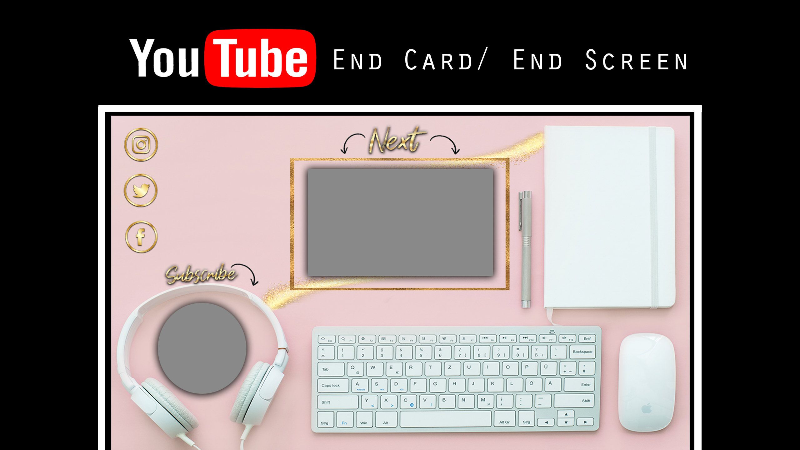 Youtube End Screen / YouTube End Card Video Outro Card