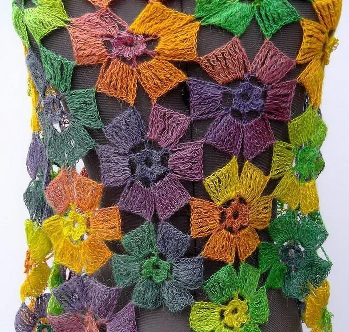 Amazing flowers shawl buy pattern how to crochet the double amazing flowers shawl buy pattern how to crochet the double treble or double ccuart Image collections