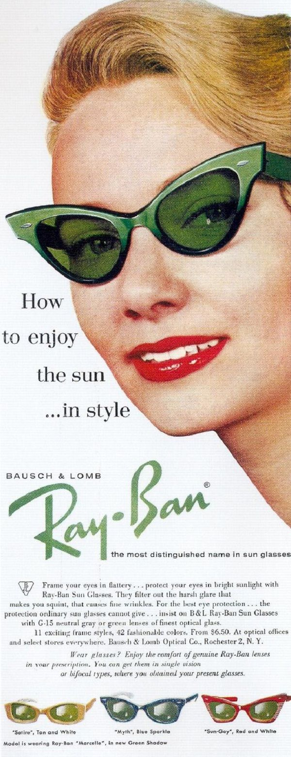 20 Cool Ray-Ban Vintage and Modern Ads