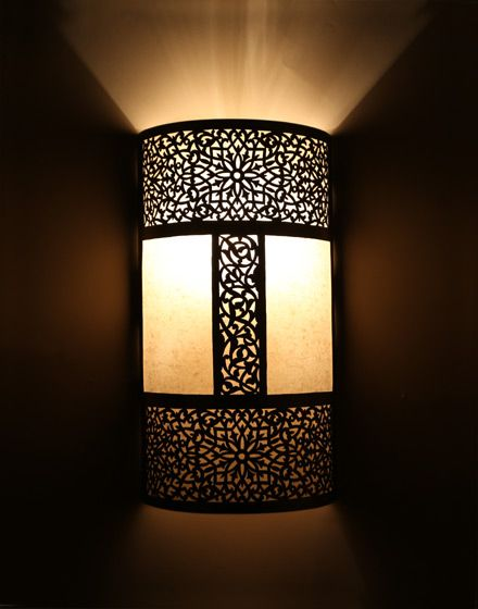 Silver moroccan wall light with parchment so pretty silver moroccan wall light with parchment so pretty aloadofball Images