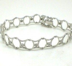 9c43188e2a1 Pulseira Feminina Diamantes Ouro Branco 18k 750