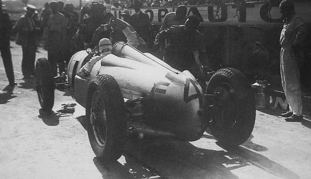 GP FRANCE (ACF) -1934 , Auto Union A #4 of August Monberger