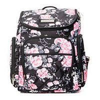 Laura Ashley 4-in-1 Floral Zip Around Backpack Diaper Bag - Black ... 299d9f6ea024d