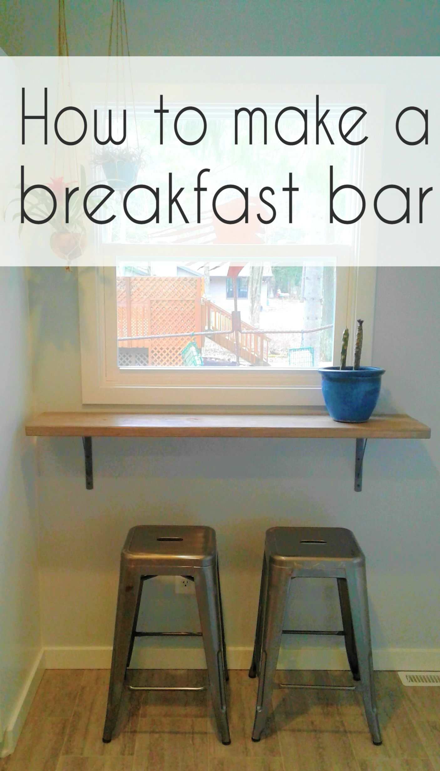 How To Install An Easy Breakfast Bar Simple Kitchen Remodel Diy Breakfast Bar Kitchen Bar Counter