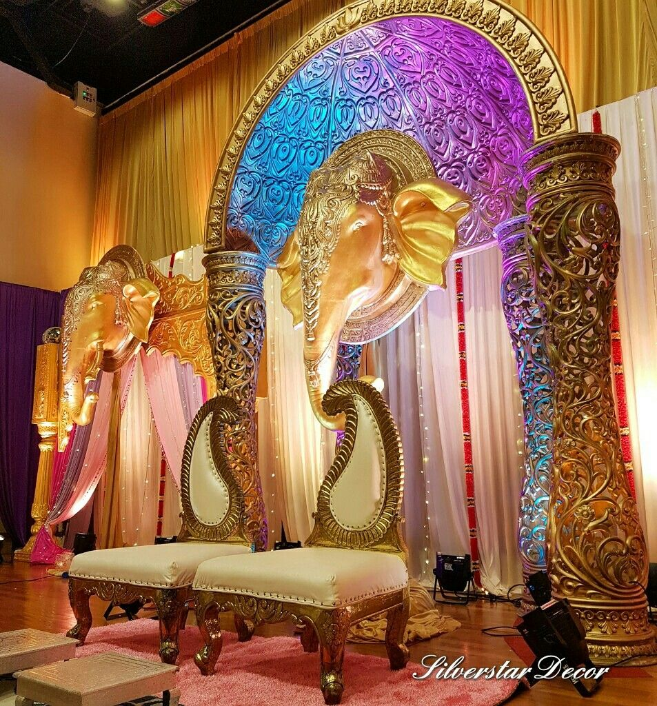 Rajasthani wedding stage decoration  Pin by Silverstar Decor on Indian wedding decor  Pinterest