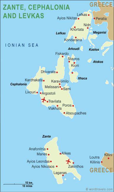 Zante Greece Map