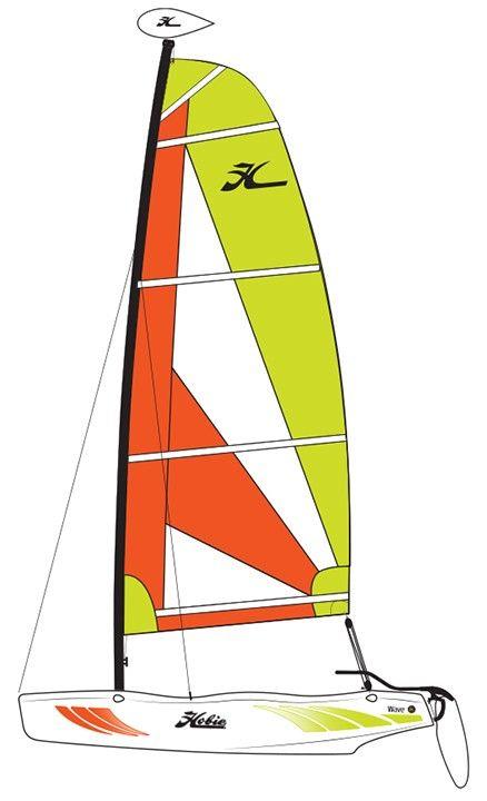Hobie Wave Classic 2017 Catamaran Sailboat Double Click To Learn More Catamaran Waves Sailboat