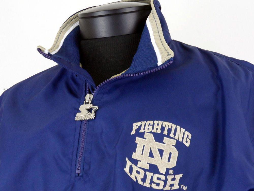 VINTAGE XL ADIDAS ORIGINALS NOTRE DAME FIGHTING IRISH TRACK