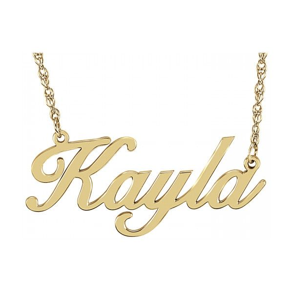 Alison Amp Ivy Bold Cursive Name Necklace 14x32mm