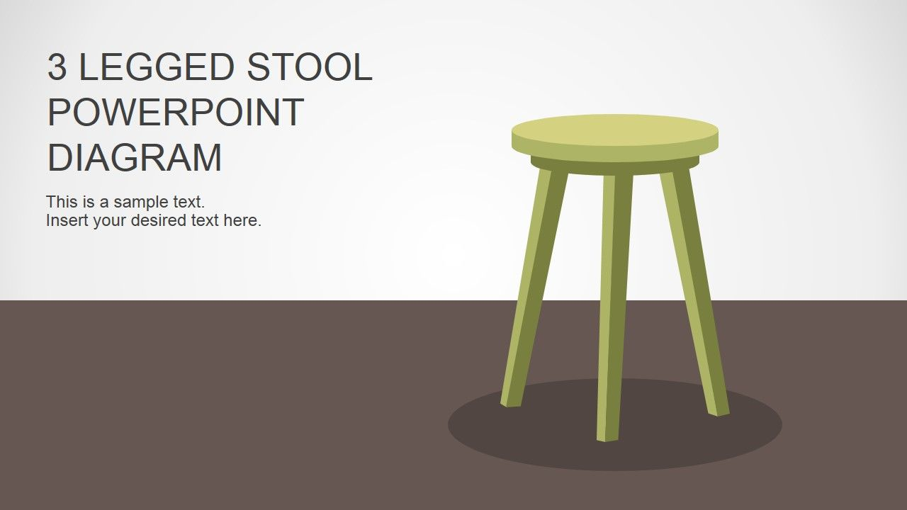 3 Legged Stool Powerpoint Diagram Stools