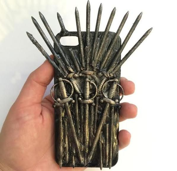 Game of Phones: Iron Throne iPhone case gets to the point. Etsy seller TheCommonRoom offers the handmade $24.99 case for iPhone 4, 4S, and 5.